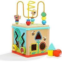 Dreampark ビーズコースター ルーピング 子供おもちゃ アクティビティキューブ 赤ちゃん知育玩具 木製 赤ちゃん マルチプレイセット