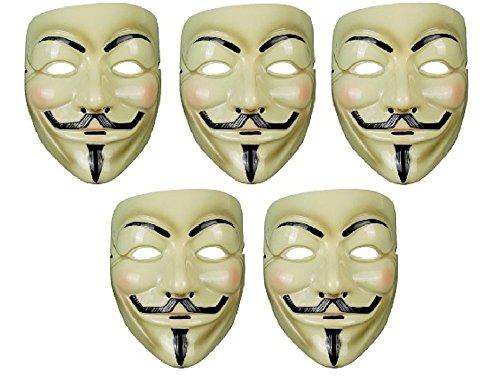 アノニマス マスク 5個 セット コスチューム用小物
