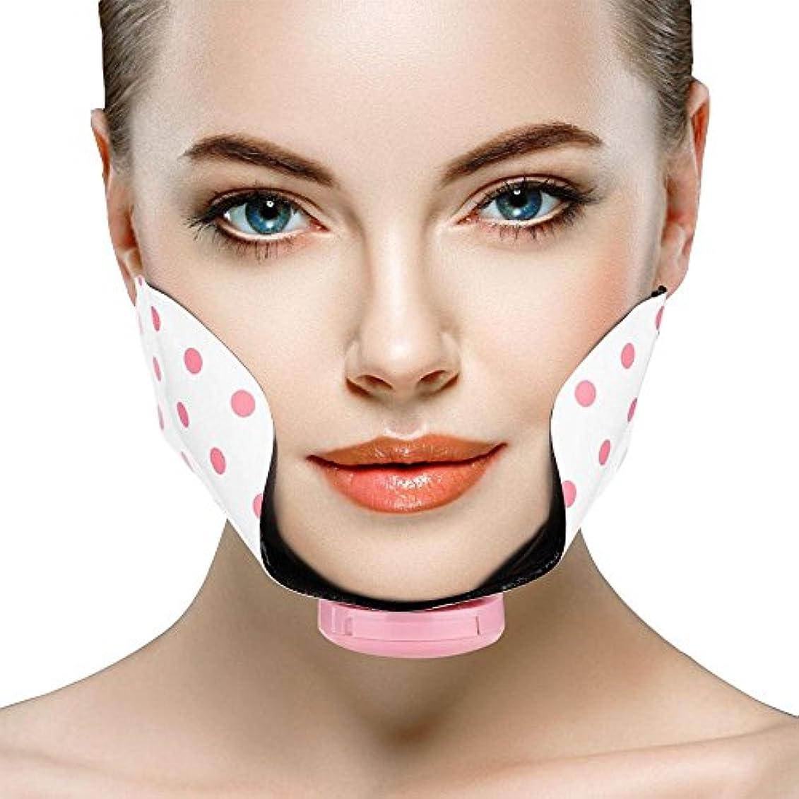 スカリーピービッシュスカリー頬スリミングベルト、シリコーン電気調節可能なミニフェイシャル痩身リフティングファーミングパッドポイントマッサージパッチ