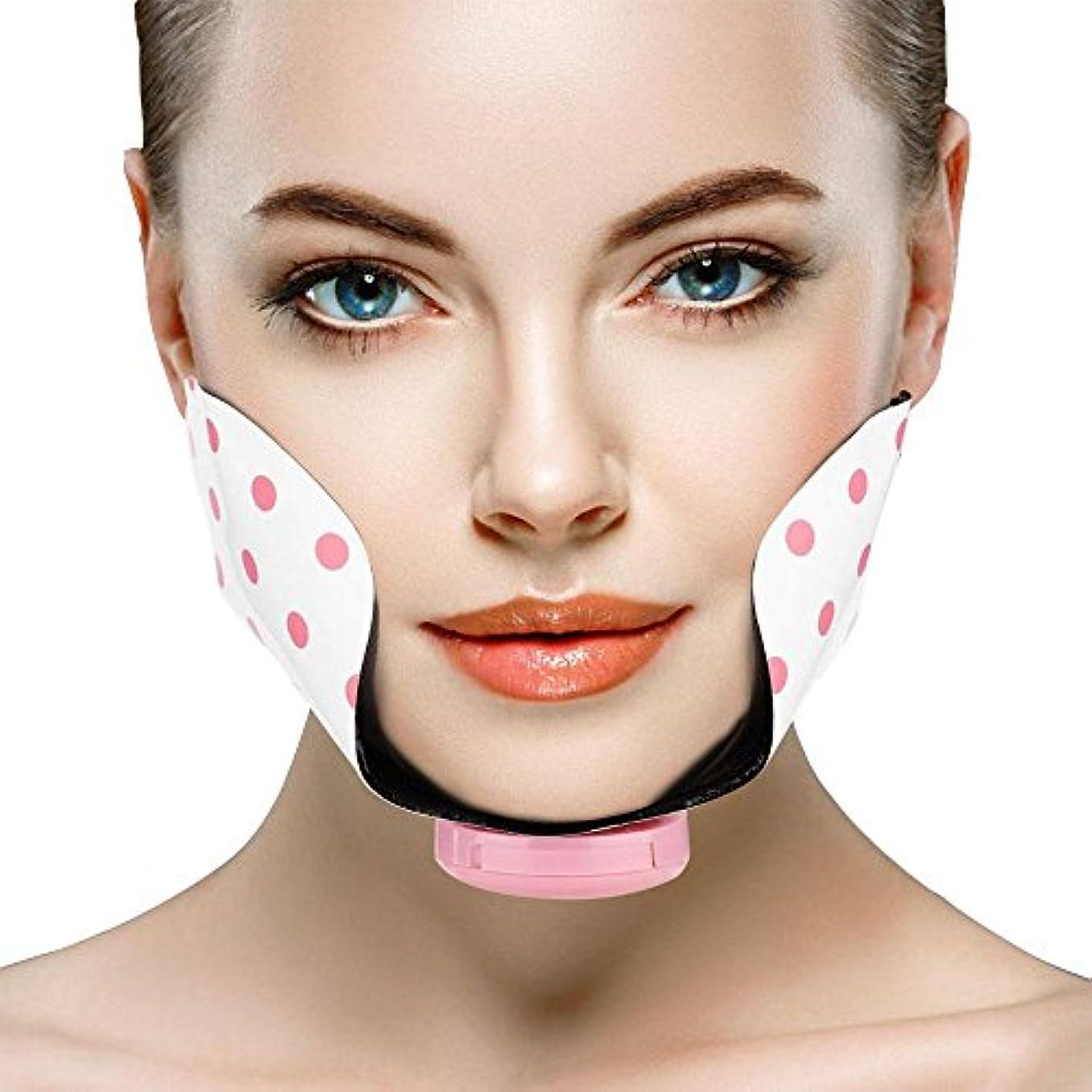 日常的にホット申し込む頬スリミングベルト、シリコーン電気調節可能なミニフェイシャル痩身リフティングファーミングパッドポイントマッサージパッチ