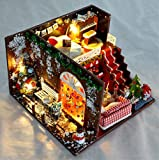 Magic House(マジック ハウス)Christmas Carnival クリスマスドールハウス ミニチュア LEDとオルゴール(メリークリスマス) 防塵ケース付属 手作りキットセット