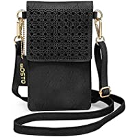 seOSTO Small Crossbody Bag, Cell Phone Purse Smartphone Wallet with 2 Shoulder Strap Handbag for Women