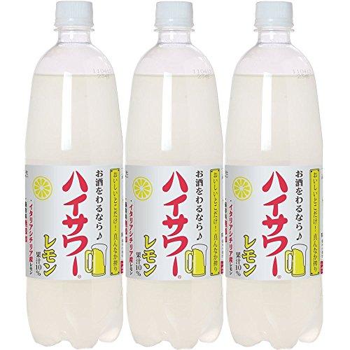 博水社 ハイサワー レモン 1000ml×3本