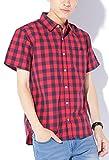 レッドブロックチェック M JACK PORT(ジャックポート) チェック ブロードシャツ メンズ 半袖 シャツ ブランド チェックシャツ チェック柄シャツ カジュアルシャツ オックスフォードシャツ ウエスタンシャツ ネルシャツ 半そで スリム S M L XL LL JKP20779005850