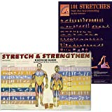 Bundle–2Items :ストレッチ&強化ポスターPlus 101Stretchesポスター