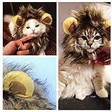 愛 犬 愛 猫 用 ウィッグ ペット用 コスプレキャップ ライオンのたてがみ(耳付き) 可愛さ...