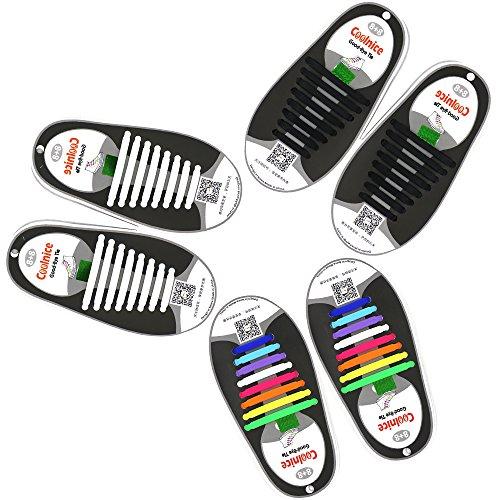 Mocent 靴紐 結ばない  スポーツ結ばない  靴ひも 伸縮型 くつひも3セット48本(大人)