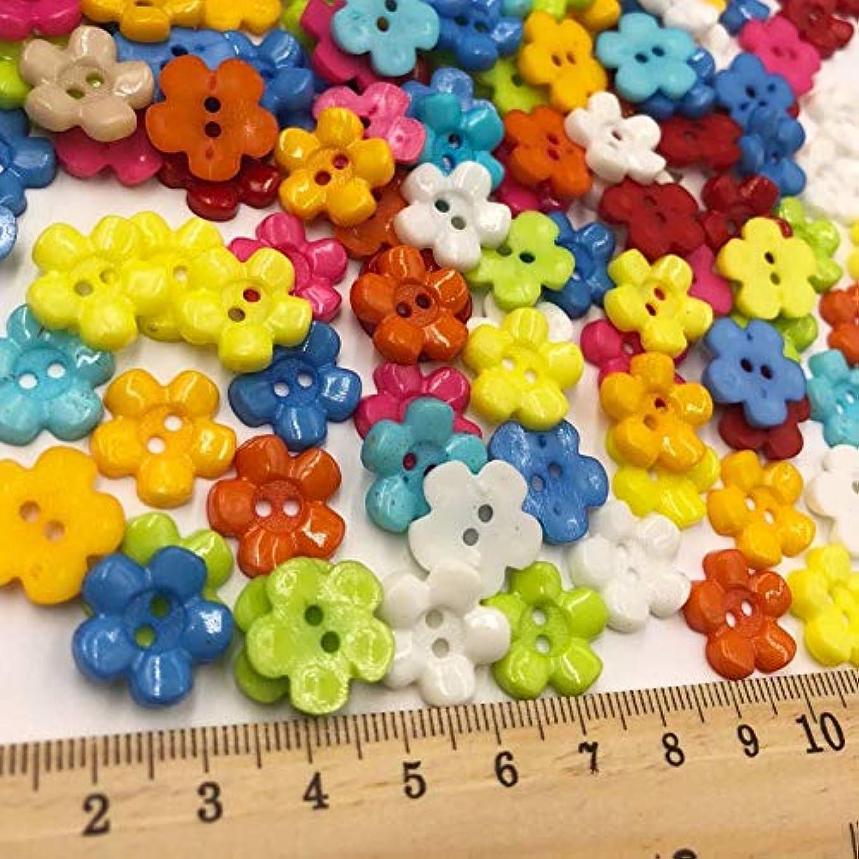 全能二度特徴づけるJicorzo - ミックス新梅14ミリメートルのプラスチックボタン/裁縫ロット[50個] 2holes