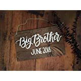 Baby Reveal Big Brother Big Sister Baby Announcement Pregnancy Announcement New Baby Parents to be Wood Sign