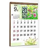 電波時計とカレンダーがひとつになった【2019年版 スマートカレンダー 軽量タイプ】 (花暦) 大判サイズ