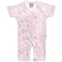 Babyushka Organic Essentials Short Sleeve Kimono Jumpsuit, Pink, 000