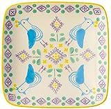 丸和貿易 角皿 北欧風 ピエネネカフェ スクエアープレート バード 600147001