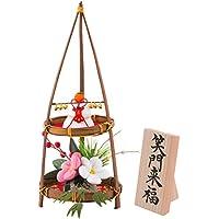 (ファンファン) FUN fun 正月飾り 迎春飾り 竹二段縁起飾り 笑門来福 間口10.5*奥行10.5*高さ25.5(約cm) 日本製