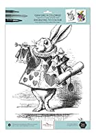 "AlibabetteエディションEngravings to Colour The White Rabbit 15.75"" by 300g水彩紙+ 100g図面用紙( col4001)"