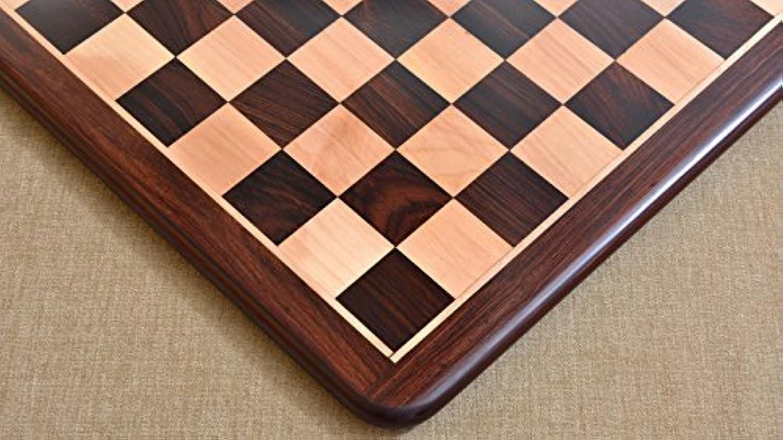 Chessbazaar Wooden Chess Board Dark Brown Rose Wood 20