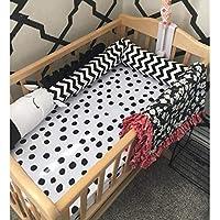 綿 ベッドレール, 北欧 漫画 ゼブラ 反衝突 ベッドガード 洗濯機 パッド 赤ちゃん 寝具-A L:300cm(118inch)
