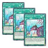 【 3枚セット 】遊戯王 英語版 DLCS-EN094 Aquarium Set 水舞台装置 (ノーマル) 1st Edition