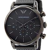 エンポリオ アルマーニ クラシック クオーツ クロノ 腕時計 AR1737 ブラック