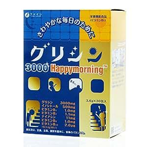 【Amazon.co.jp 限定】ファイン グリシン 3000 ハッピーモーニング 30日分(30包入) イノシトール ビタミン 配合