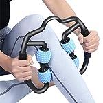 PRANCE マッサージローラー 筋膜リリース トリガーポイントマッサージ - 腰痛・肩コリ・筋肉痛を改善 ストレッチ フィットネス 脚やせ グリッドフォームローラー ヨガポール(青)