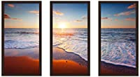 "Picture Perfect International ""サンセットSplendor 4インチフレームPlexiglass壁アート、セットの3 13.5"" W x 25.5"" H x 1"" D 704-2078-1224"