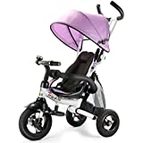 Costway 6-in-1 Kids Baby Toddler Stroller Tricycle Learning Bike Ride on Trike Pram Gift