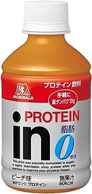 inドリンク プロテイン ピーチ味 (24本入×1箱) 1本280ml 高タンパク10g 脂肪ゼロ クエン酸配合 80kcal 常温保存可