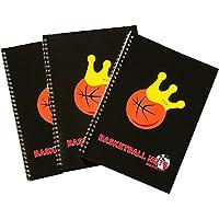 (グリンファクトリー) GRINFACTORY バスケットボールグッズ バスケノート (3冊セット) B5 リングノート 90日分 練習記録