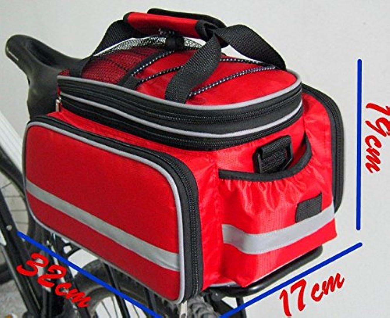 弱点容疑者ミュウミュウGamaliel自転車 サイクリング用 バッグ ブラック(レッド)