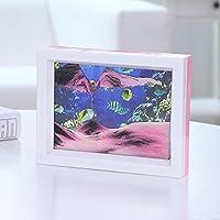 Fenteer 装飾品 3D ダイナミック砂時計 砂描画 フローティング液体 モーションタイマー 5カラー選択 - #2