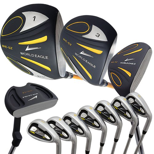 ワールドイーグル 5Z メンズ ゴルフ クラブ フルセット ブラック 右用 フレックスS WE-5Z-BK-S-W/O