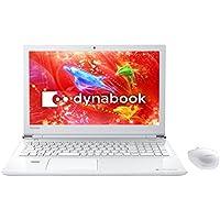 東芝 15.6型 ノートパソコン dynabook T55/D (2017年 夏モデル)リュクスホワイト(Office Home&Business Premium プラス Office 365) PT55DWP-BJA2