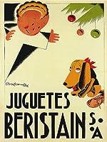 子子犬Beristain JuguetesスペインSmallヴィンテージポスターキャンバスREPRO