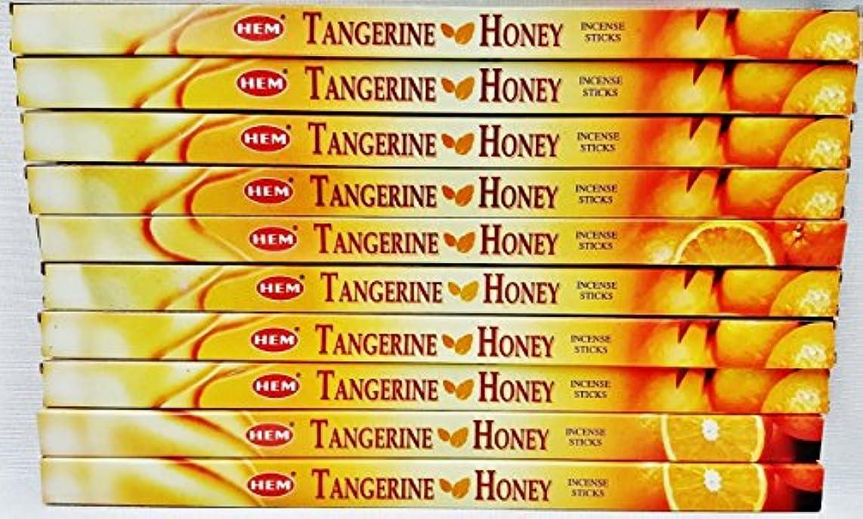 討論酒地図10ボックスHem Tangerine Honey Incense 8 Sticks perボックス80合計Sticks