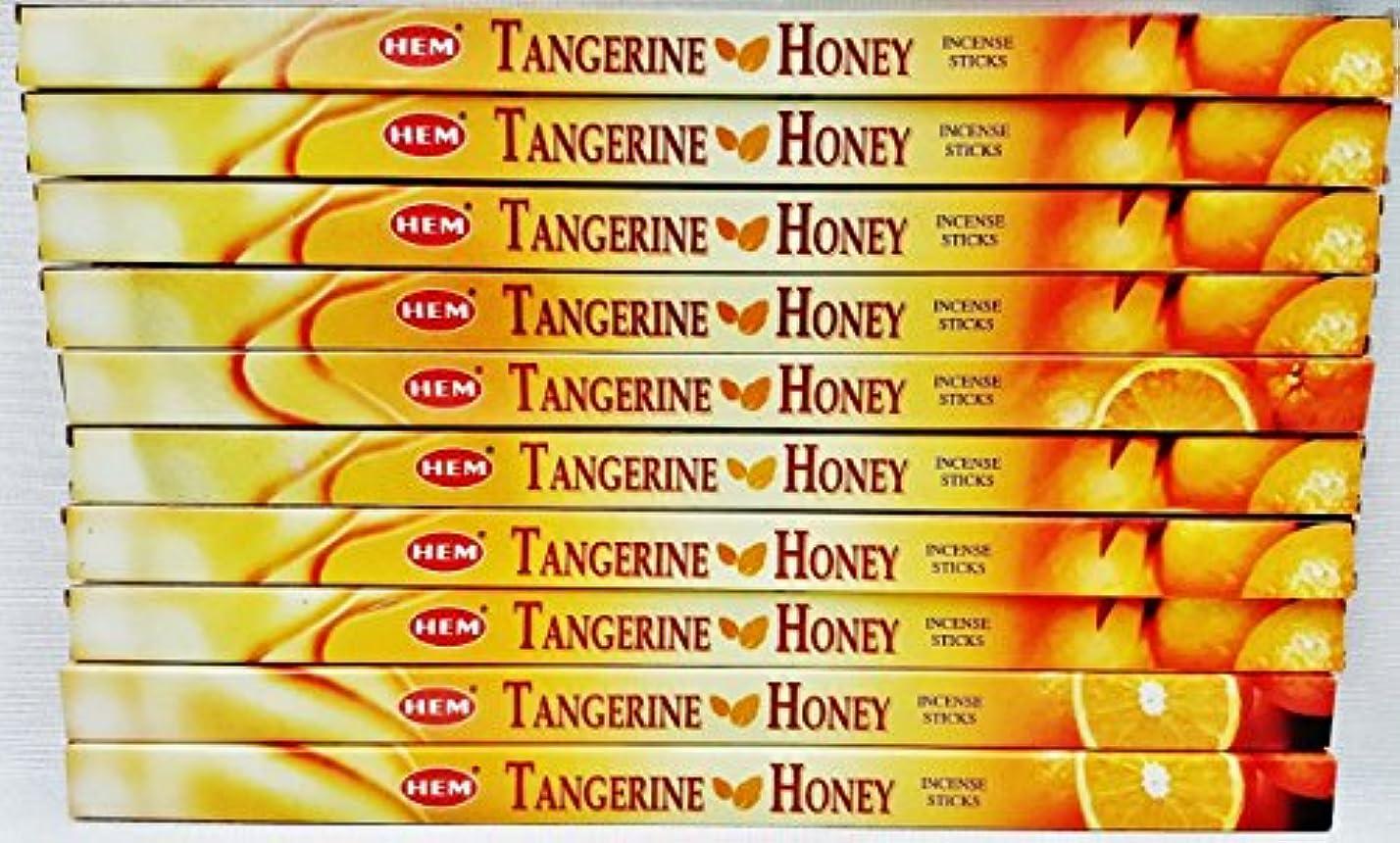 いつかブース訴える10ボックスHem Tangerine Honey Incense 8 Sticks perボックス80合計Sticks