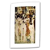 (12x24) - Art Wall Beethoven Frieze Detail 30cm by 60cm Flat/Rolled Canvas by Gustav Klimt with 5.1cm Accent Border