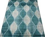 輸入絨毯 24万ノット ウィルトン織り praze-160230 (SUL) 約160×230cm ブルー トルコ製 輸入カーペット ラグ じゅうたん 水色