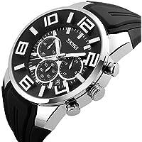 a7592f42f7 腕時計 メンズ 人気ブランド スポーツ おしゃれ 人気 かっこいい シリコン 防水 クロノグラフ 夜光