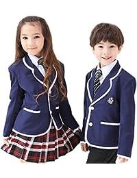 Yoyoshop 入学式スーツ キッズフォーマル スーツ 男の子 女の子 スクール制服 卒園式 5点セット