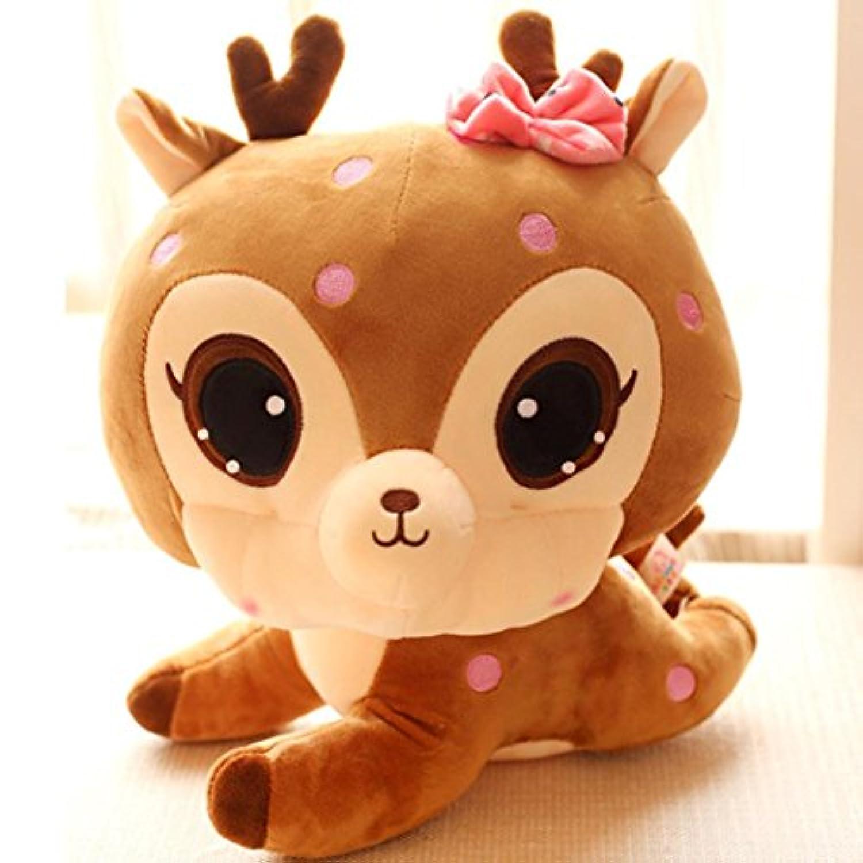 livoty Stuffed Animal SoftシミュレーションLovely Plush Cute Deerコレクションおもちゃ人形 ブロンズ Livoty
