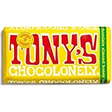 Chocolate Bar チョコレート、奴隷無料 Milk Chocolate Almond & Honey 180g Fair Trade by Tony's