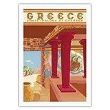 ギリシャ - クレタ島 - Cnossosの宮殿 - ビンテージな世界旅行のポスター によって作成された c.1949 - キャンバスアート - 69cm x 102cm キャンバスアート(ロール)