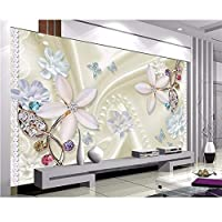 Wuyyii カスタム壁紙シンプルな手描きの水彩画の桜の木の風景のテレビの背景の壁の装飾の壁画3 Dの壁紙-280X200Cm