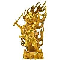 【密教】木彫り仏像 【烏枢沙摩明王(うすさまみょうおう)】 柘植(ツゲ) 切金 総高40cm