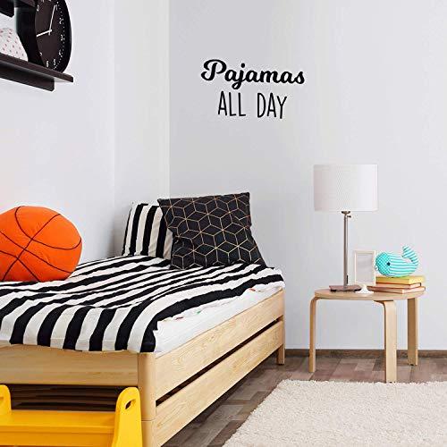 Vinyl Wall Art Decal - Pajamas All Day - 17