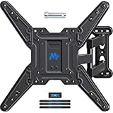 Mounting Dream Full Motion TV Wall Mounts Bracket with Perfect Center Design for 26-55 Inch LED, LCD, OLED Flat Screen TV, TV Mount with Swivel Articulating Arm, up to VESA 400x400mm MD2413-MX-04