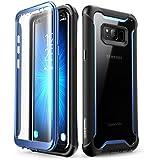 Samsung Galaxy S8+ Plus case, i-Blason Full-body Rugged Clear Bumper Case with Built-in Screen Protector for Samsung Galaxy S8+ Plus 2017 Release (Black/Blue)