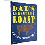 Kitchen Cooking Tea Towels - Dads Roast Meat Cooking - Cooking Cleaning Polishing Christmas Birthday Gift