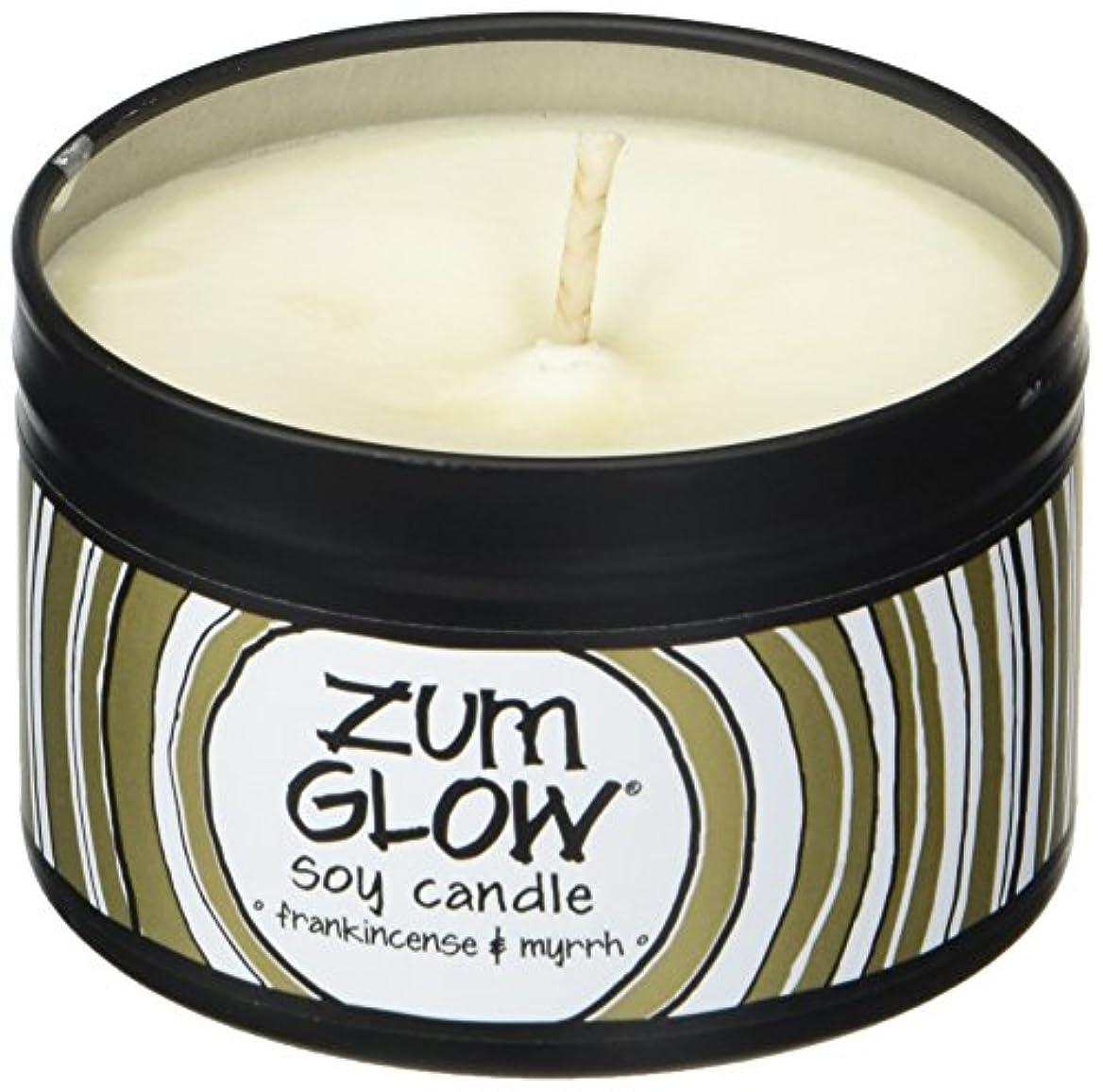 フットボールリーチ交差点Indigo Wild Zum Glow Soy Candles, Frankincense and Myrrh
