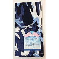 NuAngel Flannel Receiving Blanket - Blue Camo by NuAngel